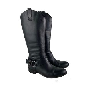 Blondo Black Leather Over the knee Boots